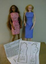 """Fitted Sheath Pattern 19CED01 For 19"""" CED Dolls"""