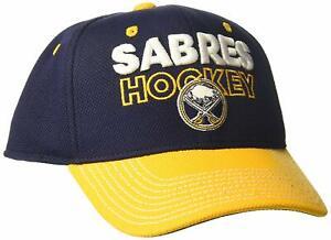 Adidas NHL Men's Buffalo Sabres Pro Authentic Locker Room Structured Flex Hat