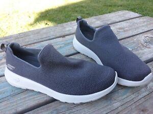 Mens Skechers Slip On Goga Max Flex Size 10 Gray Sneakers GEN 5