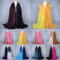 Ladies Women Muslim Long Soft Pashmina Scarf Stole Shawl Wrap Soft Voile Scarves