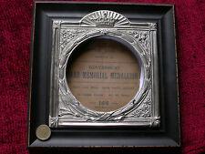 Replica Copy Framed WW1 Memorial Plaque Holder aged metal