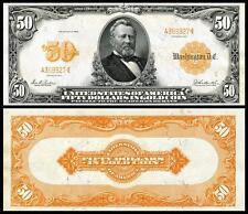 NICE CRISP 1913 $50.00 GOLD CERTIFICATE COPY BANKNOTE!