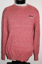 Superdry Hommes Taille L 5% Cachemire Pull Col V Combiner Envoi Discount