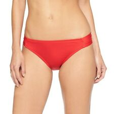 Mossimo Womens Tab Side Bikini Bottom Red Pepper Small - S - NWT - Free Shipping