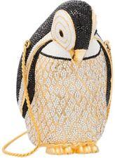 Judith Leiber Penguin Bird Evening Bag Black Gray White Gold Crystal Vintage2
