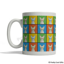 Cornish Rex Cat Mug - Cartoon Pop-Art Coffee Tea Cup 11oz Ceramic