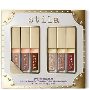 Stila Eye For Elegance set Shimmer Glitter & Glow Liquid EyeShadow Travel Set