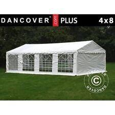 Dancover Tendone per Feste Plus 4x8m PE gazebi giardino Party Bianco