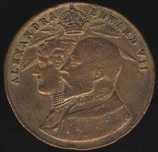 More details for 1902 edward vii & queen alexandra east ham medal   pennies2pounds