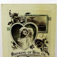 1920s Real Picture Birthday Greetings Thinking of You on Your Birthday Card