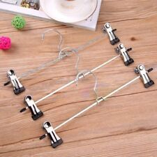 Clothes Hangers with Adjustable Clips