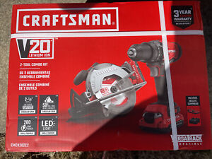 NEW CRAFTSMAN V20 2-Tool 20-Volt Max Power Tool Combo Kit CMCK202C2 Drill / Saw