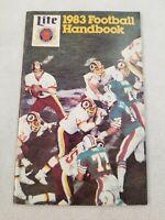 1983 Football Handbook Miller Lite Schedule Miami Dolphins Washington RedskinsP4