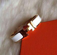 New white Popular Stylish Stainless Steel Anti allergic H shaped Buckle Bracelet
