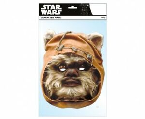 Wicket Ewok Star Wars Official Single 2D Card Party Face Mask Wystri Warrick