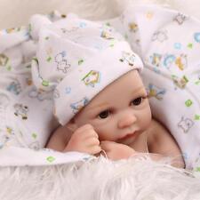 """10"""" Handmade Doll Realistic Boy Toy Newborn Baby Vinyl Reborn Silicone Doll Gift"""