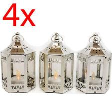 SET OF 4 LED LANTERN CANDLE HANGING GARDEN HOME DECORATION WEDDING 12CM PATIO