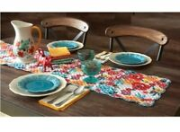✨ Pioneer Woman Flea Market Table Runner Reversible Quilted Brand New VHTF ✨