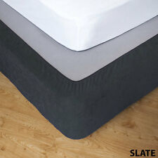 Apartmento Slate Stretch Valance - Queen Bed