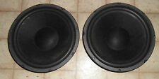 "Pair of Refurbished 12"" Paper Cone Woofers from Sansui S-55C Speakers"