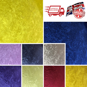 Vibrant Crushed Velvet Upholstery Fabric Single Backing Craft Sofa Stool Cover