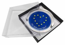 British Brexit, Europe 'We Still Love You' Glass Paperweight in Gif, BRITISH-4PW