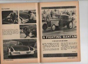 Vtg Custom Rodder Magazine July 1961 Hot Rod Drag Race Custom Hubcaps