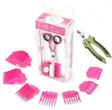 SCAREDY CUT Silent Clipper, PINK, with Safari Professional Nail Trimmer for Dogs