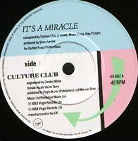 "CULTURE CLUB it's a miracle  love twist 7"" WS EX/ uk virgin VS 662"