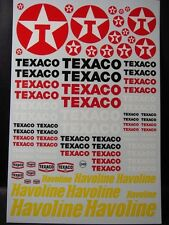 "DECALS 1/43-1/32-1/24-1/18  PETROLIER "" TEXACO - HAVOLINE "" - VIRAGES  T249"