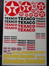 "DECALS 1/43-1/32-1/24-1/18  PETROLIER "" TEXACO - HAVOLINE "" - VIRAGES  T249"
