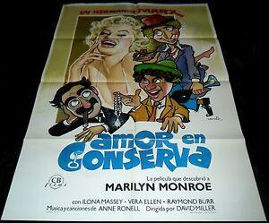1949 Love Happy ORIGINAL SPAIN POSTER Marilyn Monroe Marx Brothers
