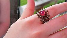 Dragon's Breath Fire Opal Ring and Earrings Golden Settings Huge Sale