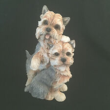 Yorkshire Terriers Yorkies Dogs Danbury Mint Resin Figurine Collectible 10""