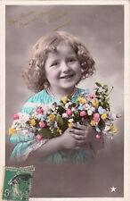 GIVORS ces fleurs avec un baiser timbrée 1908