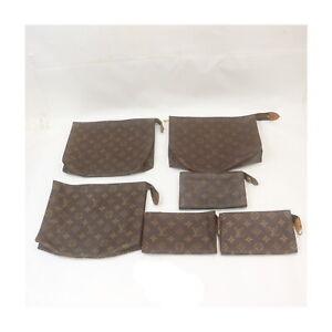 Louis Vuitton Monogram Cosmetic Pouch Clutch 6 pieces set 525574
