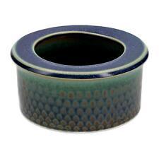 A Gustavsberg art pottery bowl Blue & green glazes Midcentury Swedish design