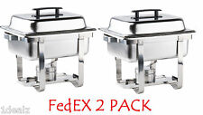2 PACK PREMIER 4 Qt. Half Size Stainless Steel Chafer CHAFING DISH  with rebate