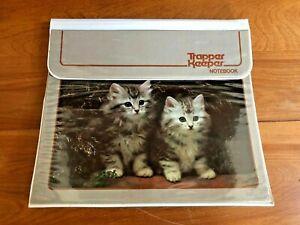 VTG 1980s MEAD KITTEN TRAPPER KEEPER BINDER NOTEBOOK 3 RING BINDER #29096