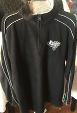 "Men's ""RAIDERS"" Fleece Pullover Jacket, Size L"
