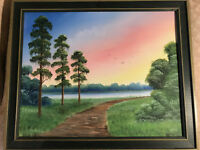 "Nice Todd Anderson ""Florida Landscape Scene"" Oil Painting - Signed And Framed"