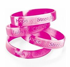 NEW Lot Of 48 Pink Ribbon Camo ~ Breast Cancer Awareness Bracelets