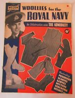Original 40's WW2 Homefront Weldon Knitting Magazine Woollies for the Royal Navy