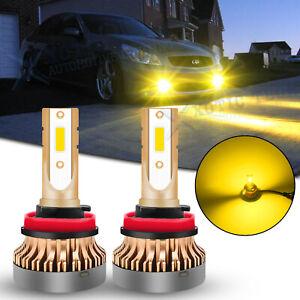 Golden Yellow 3000K H8 H11 LED Fog Light Bulbs For Infiniti G37 2011 2012 2013