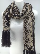Women's RALPH LAUREN Black Gold Sparkle Long Winter Scarf - $48 MSRP