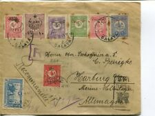 Turkey reg cover to Germany 1916