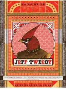 Jeff Tweedy (Wilco) Charlottesville 2010 Gig Poster (Silkscreen) 18 x 24' Print