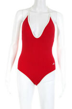 Morgan Lane Womens One-Piece Swimsuit Red White Size Small