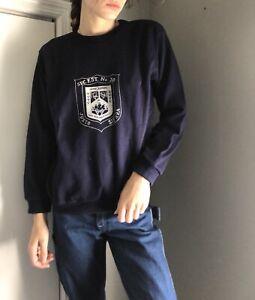 Vintage UC Santa Barbara Navy Sweat Shirt M Tee LS Blue Military 70's 80's Base