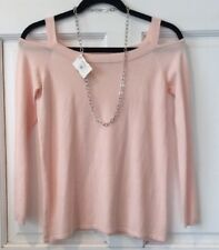 Central Park West Cold Shoulder Sweater Ballet Pink Sz S NEW! with tags $138
